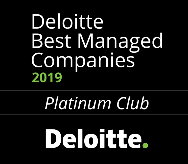 Best Managed Companies, Platinum Award Deloitte Best Managed Companies, 2019