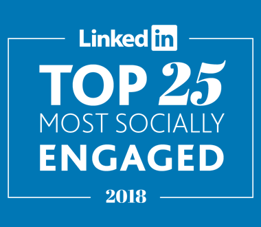 Top 25 Global Most Socially Engaged LinkedIn, 2018