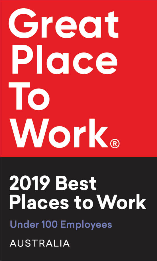 Best Place to Work Australia 2019 - under 100 employees category