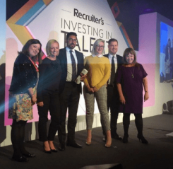 Winners twice at the Recruiter's Investing In Talent Awards