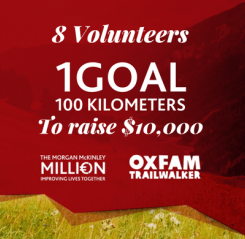 Morgan McKinley takes on the 100km Oxfam Trailwalker!